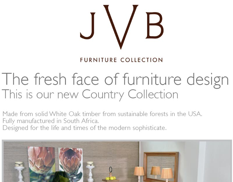 JVB Furniture Collection: New Country Collection